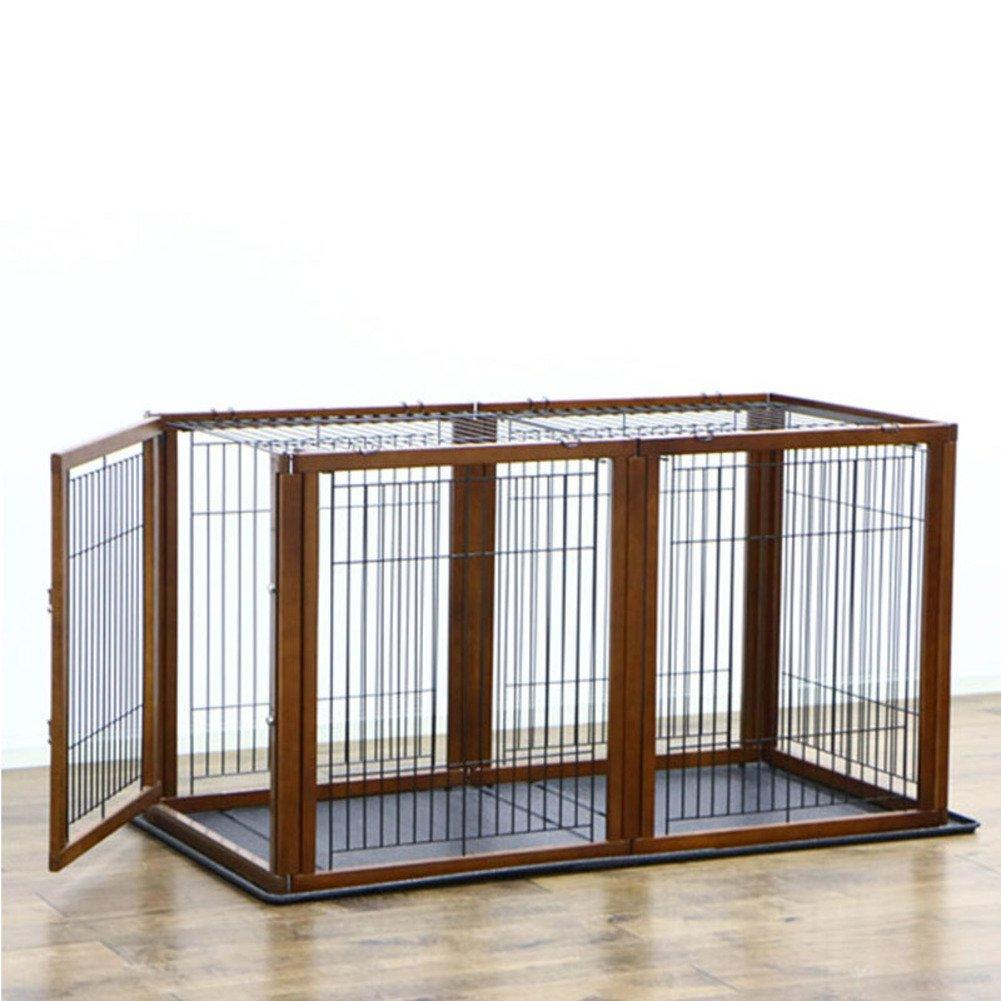 折り畳み式の金属製犬クレート,ペットのケージ フェンス 犬ケージ 小型、中型犬の犬小屋 ペット犬小屋大オープン犬小屋屋内犬クレート トレイ 屋外犬のクレート パッド-C B07CVSRS7M 16885 C C