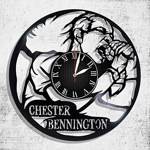 BombStudio Chester Bennington Vinyl Record Wall Clock, Chester Bennington Handmade for Kitchen, Office, Bedroom. Chester Bennington Ideal Wall Poster ()