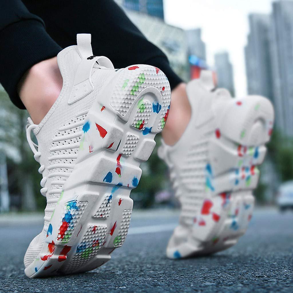 Zapatillas de Deporte para Mujer Hombre Moda Zapatillas de Deporte Transpirables Malla Suela Suave Casual Atl/ético Ligero 39-45 Darringls Zapatillas de Deporte para Hombre