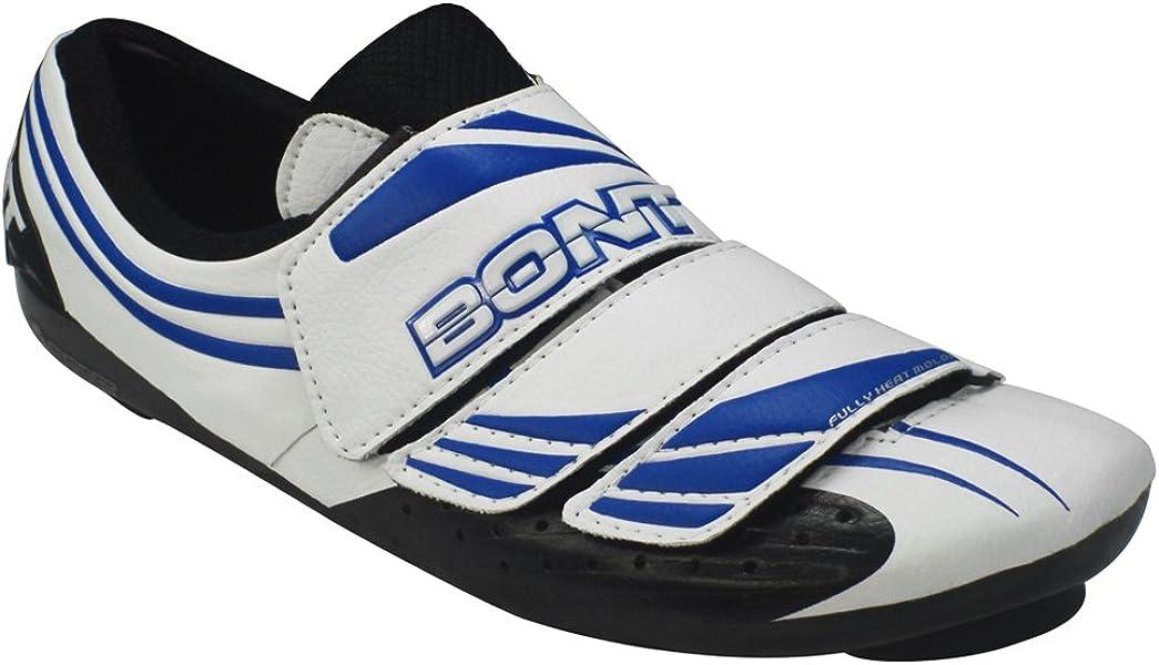 Bont Three (A3) Zapatillas de Ciclismo Carretera Blanco/Azul Talla 46