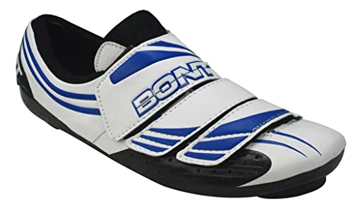 Bont Three (A3) Zapatillas de Ciclismo Carretera Blanco/Azul Talla 42: Amazon.es: Zapatos y complementos