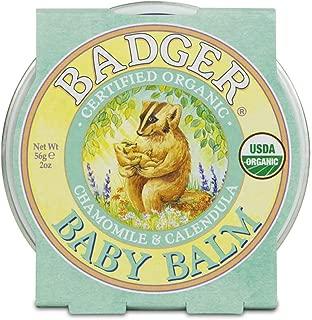 product image for Badger - Baby Balm, Chamomile & Calendula, Certified Organic Baby Balm, Cradle Cap Balm for Babies, Baby Rash Balm, Baby Skin Care, 2 oz