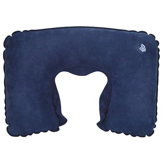 trixes Cojín Inflable Azul para Cuello Almohada Descanso ...