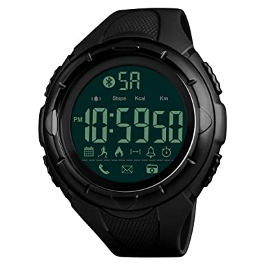 Reloj Inteligente para Hombre, Impermeable, podómetro, Reloj Digital, cámara remota, calorías