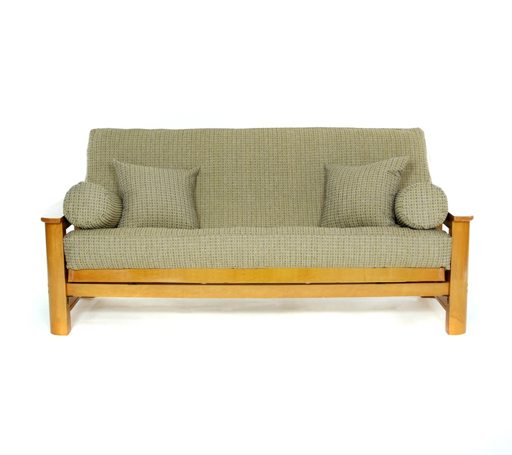 Green//Blue Lifestyle Covers Breezy Point Full Size Futon Cover 54x75