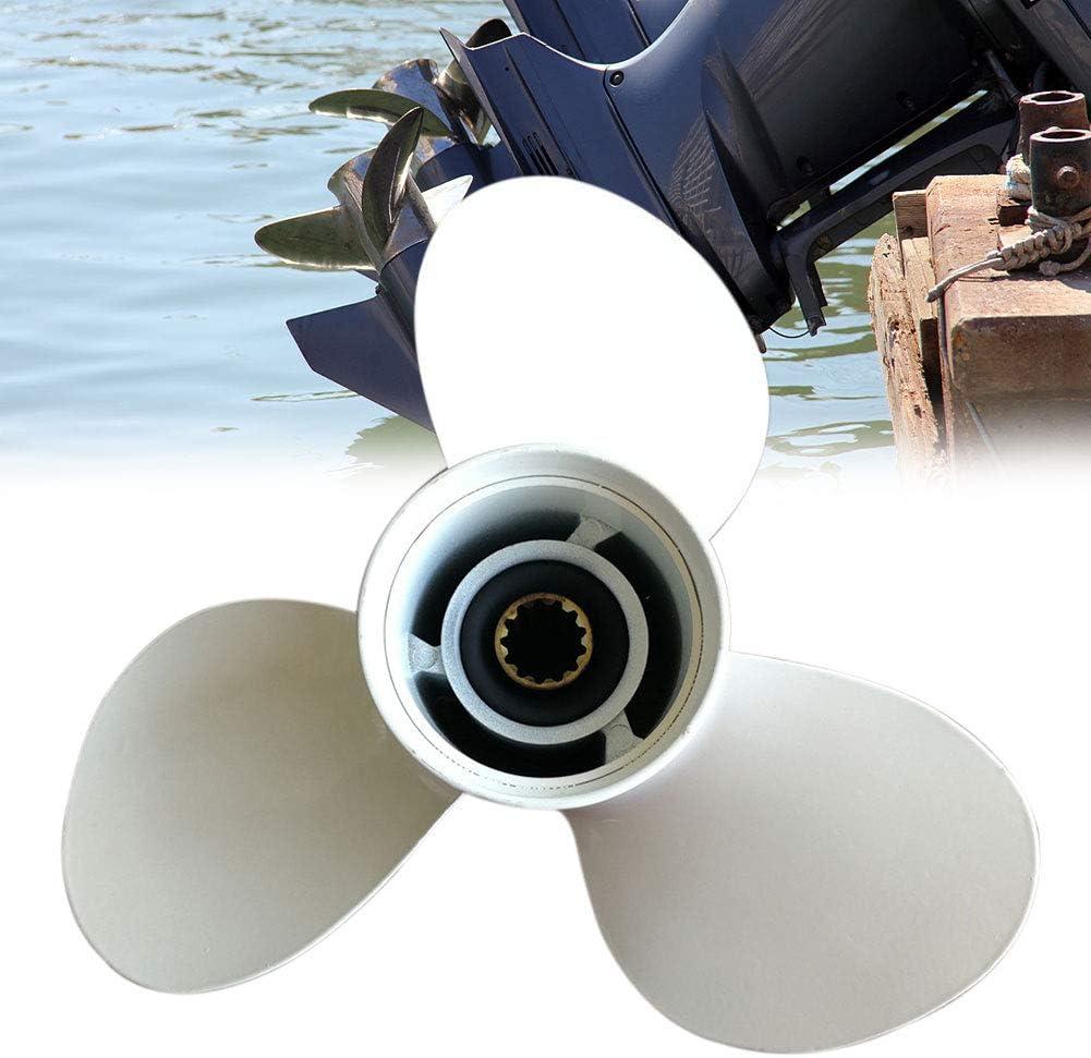 Pieza de repuesto estable de aleaci/ón de aluminio 13 dientes 40-50HP f/ácil instalaci/ón barco buque 69W-45947-00 motores para Yamaha H/élice Hors-Bord Duradero 11 5//8 x 11-G