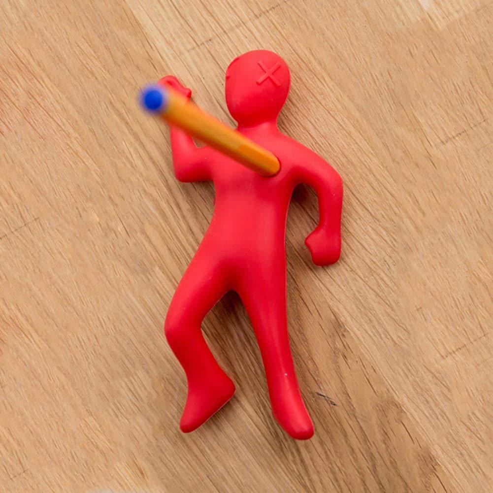 1pc tidy SchreibTisch Dead man Desktop StiftHalter rote Farbe WeihnachtsGeschenk Stress Spielzeug Stress-Relief