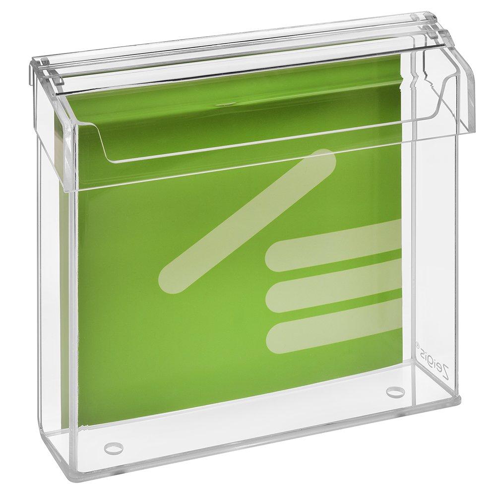 Prospetto scatola/Espositore/Flyer titolare per volantini 21x 21cm, resistente alle intemperie, per esterno, con coperchio, in materiale acrilico trasparente, vetro–zeigis® vetro-zeigis® Unbekannt A0354