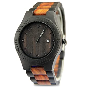 f2defb32d3 Amazon | YFWOOD 木製腕時計 メンズに圧倒的な人気腕時計 優しい木の ...