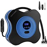 DBPOWER 12V DC Air Compressor Pump, Digital Tire Inflator by 150PSI with Digital Gauge, 3 High-air Flow Nozzles & Adaptors for Cars, Bicycles and Basketballs