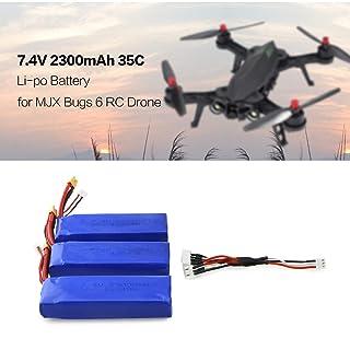 FairytaleMM 3Pcs 7.4V 2300mAh 35C Li-po Batteria XT30 Spina per MJX Bugs 6 B6 RC Drone