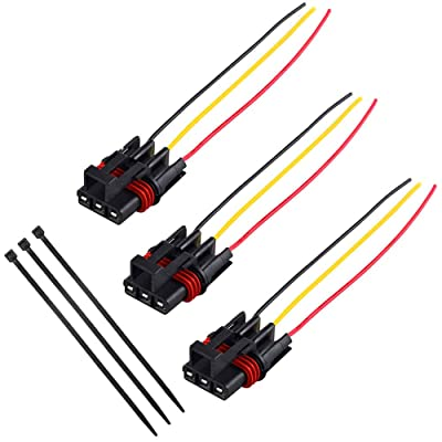 UNIGT 3 PCS 24-inches Pulse Power Plug Pigtail Connector for 2020-2020 Polaris Ranger Crew XP 1000 RS1 General Bus Bar Power Harness Pigtail Connector - 14 Gauge: Automotive