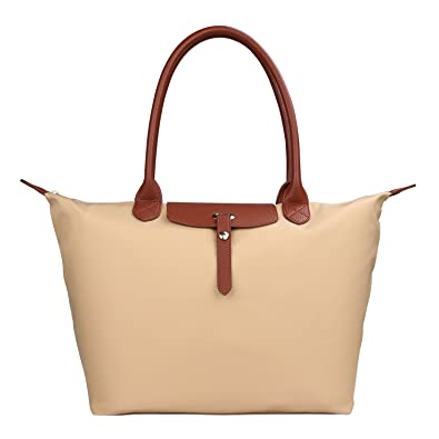KONPAD Women Fashion Hobo Bag Large Tote Shoulder Handbag Light Weight Nylon  Tote Bag Handbag Travel cb4e2a9f01