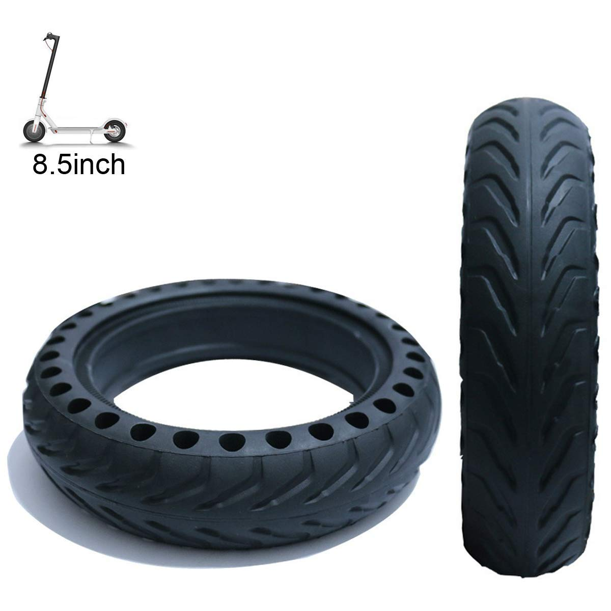 Flycoo 8.5inch Solid tyre for Xiaomi M365 Electric Scooter 8 1//2x2 Solid Non-Slip Replacement Front//Rear Tyres