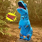 Cocal Dinosaur Toy, Adult Inflatable T-Rex Trex Dinosaur Blow Up Fancy Costume Suit Party Party Toy (Blue)