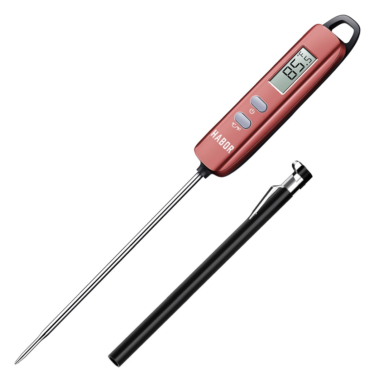 Habor Meat Thermometer, Instant Read Thermometer Digital Cooking Thermometer, Candy Thermometer with Super Long Probe for Kitchen BBQ Grill Smoker Meat Oil Milk Yogurt Temperature HBCP022AH