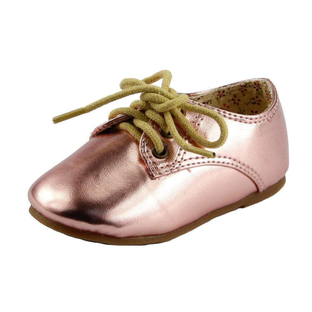 The Doll Maker Girl's Toddler Metallic Oxford - FBA173081B-5