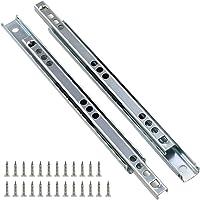Yoohey Metal 7.2 inch Drawer Slides, Ball Bearing Two Way Slide Track Rail 0.7 inch Wide 1 Pair