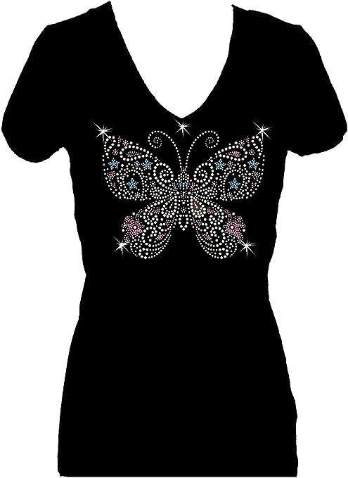 Women/'s Retro Blingbling Round Collar Short Sleeves Leisure T-shirt Blouses W491