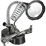 Blesiya Helping Hand Magnifying Glass with LED Lights and Soldering Stand 3X/12X Dual Lens LED Lighted Soldering Stand…