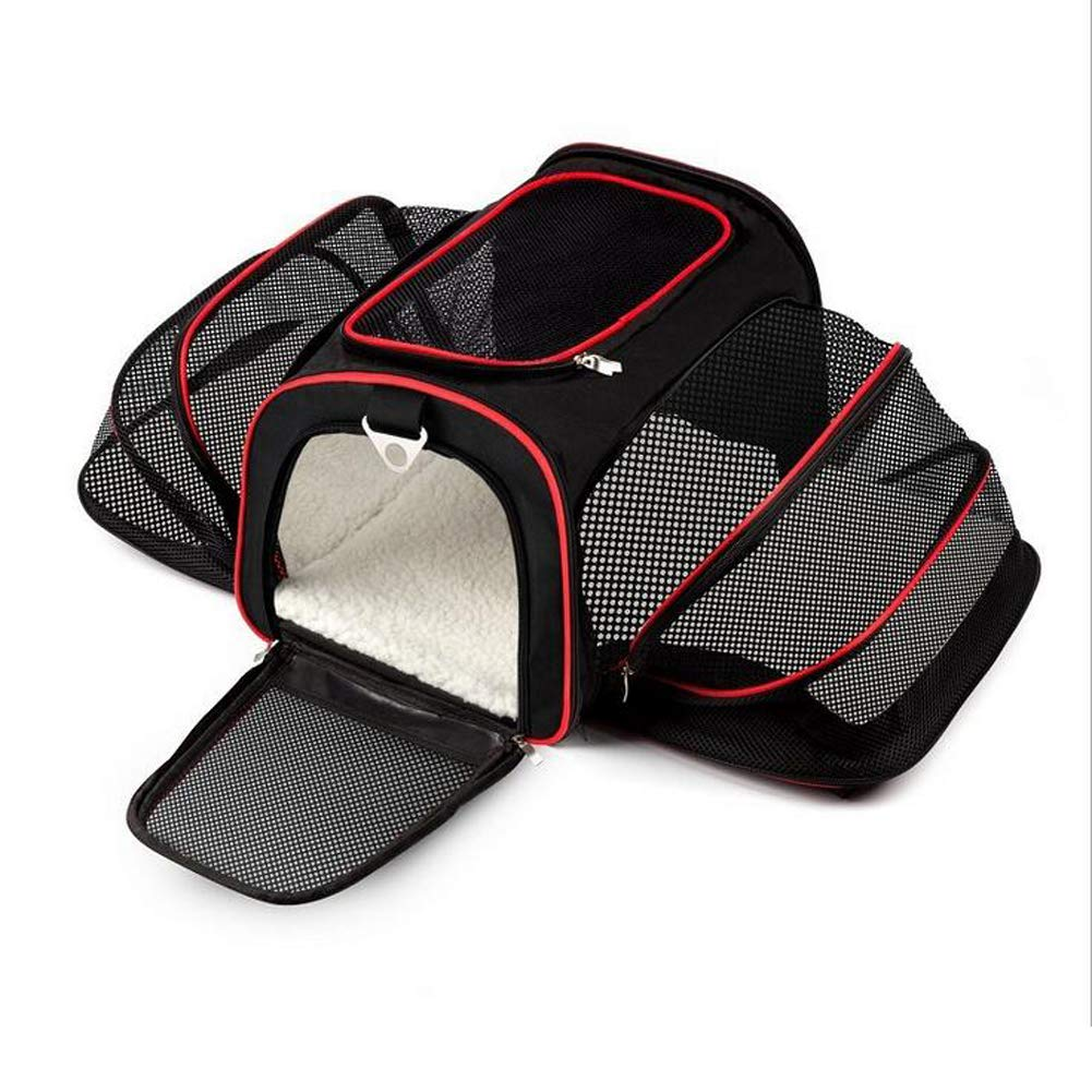 DYYTR Dogs Rodents Cats Rabbits Furry Small Pets Pets Carrier & Travel Backpack Pet Carrier Multi Layer Portable Breathable Double-Sided Folding