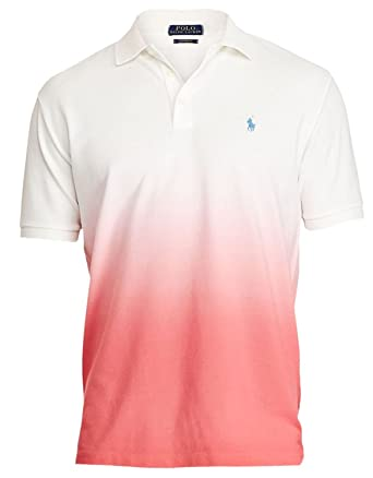 Polo Ralph Lauren Mens Pique Ombre Polo Shirt at Amazon Men's Clothing  store: