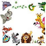 DEKOSH Kids Peel & Stick Animal Wall Stickers | Fantasy Jungle Theme Baby Nursery Wall Decals for Playroom | Decorative…