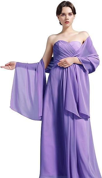 Damenschal aus Chiffon f/ür Brautjungfern Hochzeit Party Abendkleid