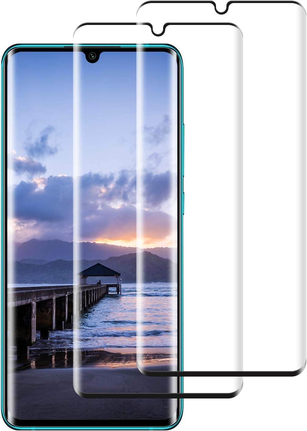 DOSNTO Protector de Pantalla para Xiaomi Mi Note 10 Cristal Templado, [2-Pack] 3D Cobertura Completa [9H Dureza] [Sin Burbujas] [Resistente a Arañazos]Vidrio Templado Screen Protector para Mi Note 10