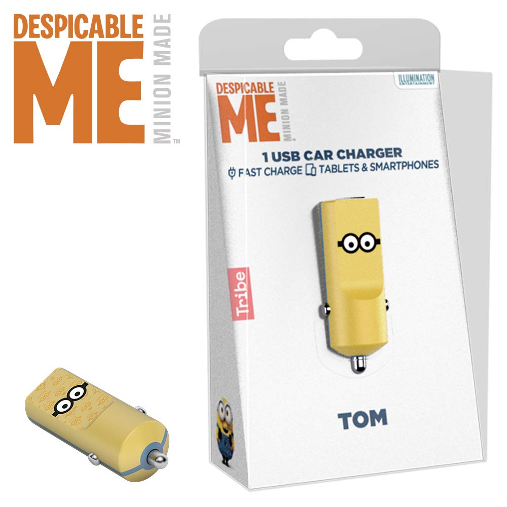 Caricatore USB Universale Originale Minions 2.4 A Fast Charge Tribe CCR12102 Caricabatteria da Auto Jail Time