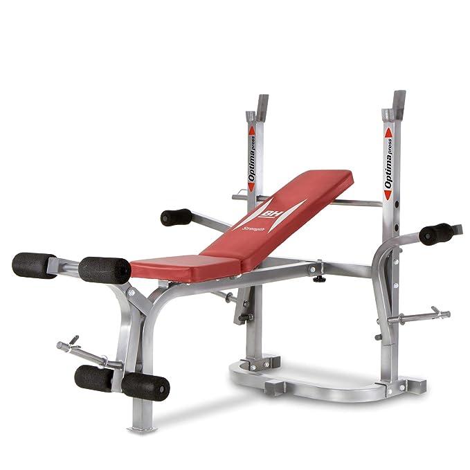 BH Fitness Optima Flex Banco musculación, Unisex, Plata/Rojo ...