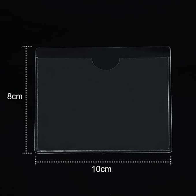 FGF-EU Transparent Self Adhesive Parking Permit Holder Pack of 1 Ticket and Note Sticky Back Protect Cover for Car Windscreen Badges