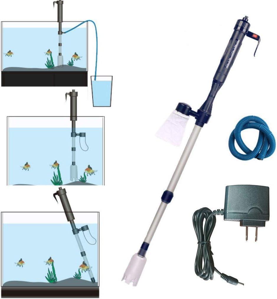 LONDAFISH - Kit de Limpieza automática de gravilla con batería, sifón de vacío, Sistema de Lavado de Arena Fresca con Adaptador: Amazon.es: Productos para mascotas