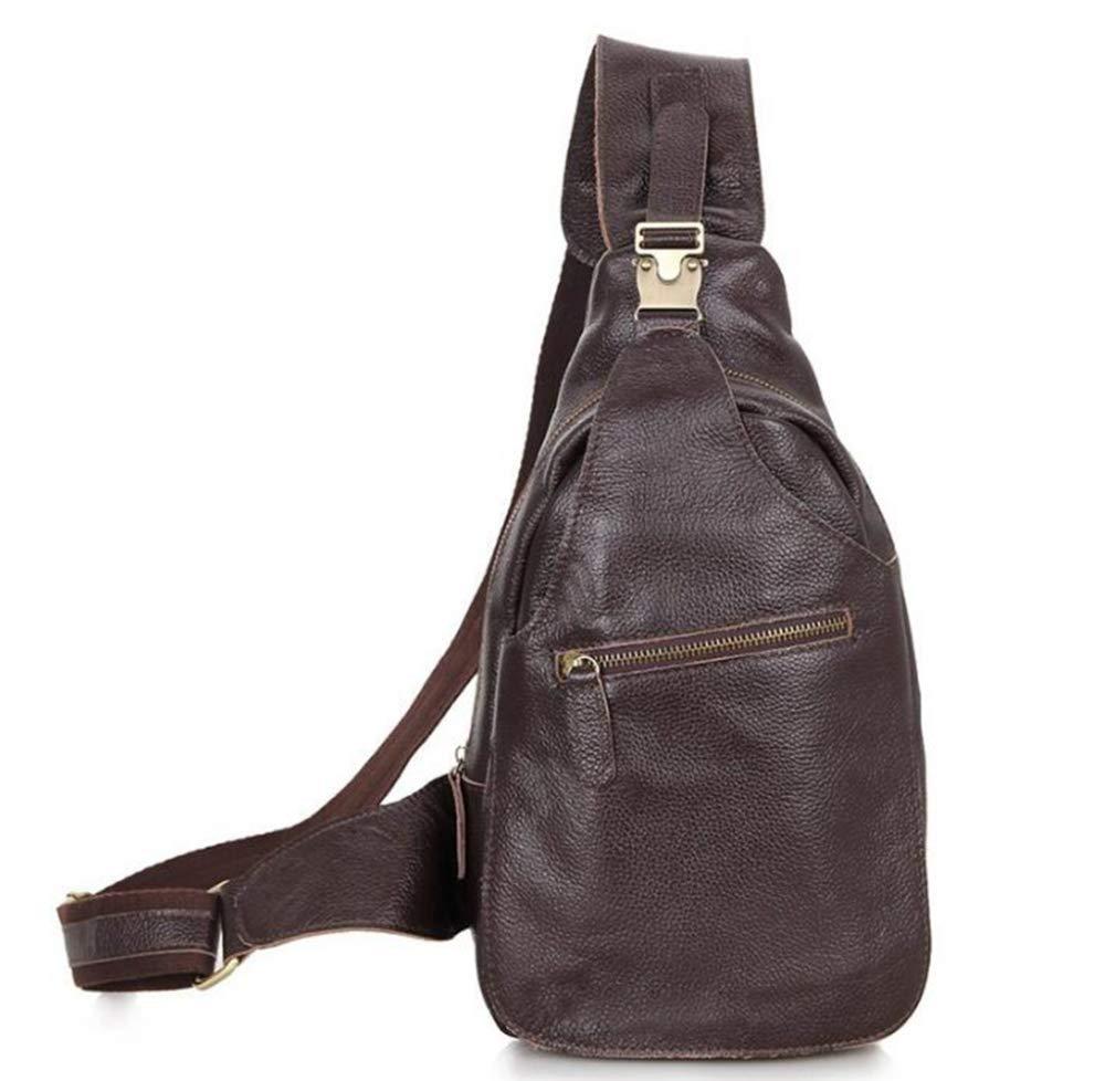 Sxuefang Mens Shoulder Bag Mens Messenger Bag Leather Chest Bag Shoulder Messenger Bag Leisure Chest Bag 21.5x7x30.5cm