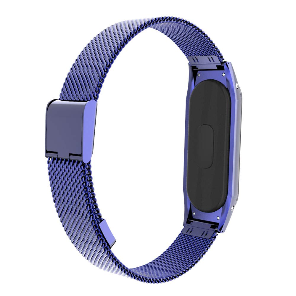 Modaworld _Correas de Metal Xiaomi Mi Band 3, Correa milanesa de Repuesto de Acero Inoxidable, Pulsera Deportiva para Fitness,Correas de Reloj: Amazon.es: ...
