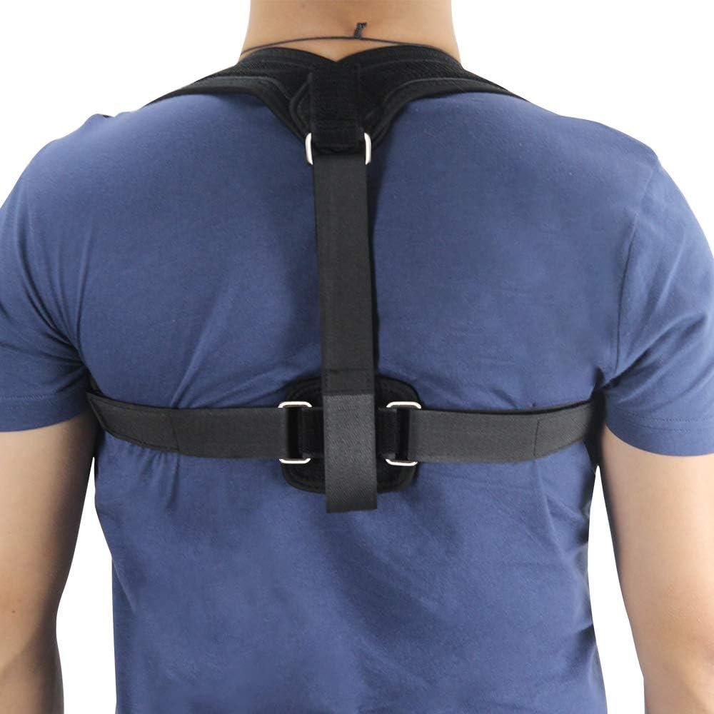 DKzyy Nuevo Corrector De Postura Corsé De Vendaje De Hombro Corsé Ortopédico De Espalda Escoliosis Cinturón De Respaldo para Hombres Mujeres (Negro)