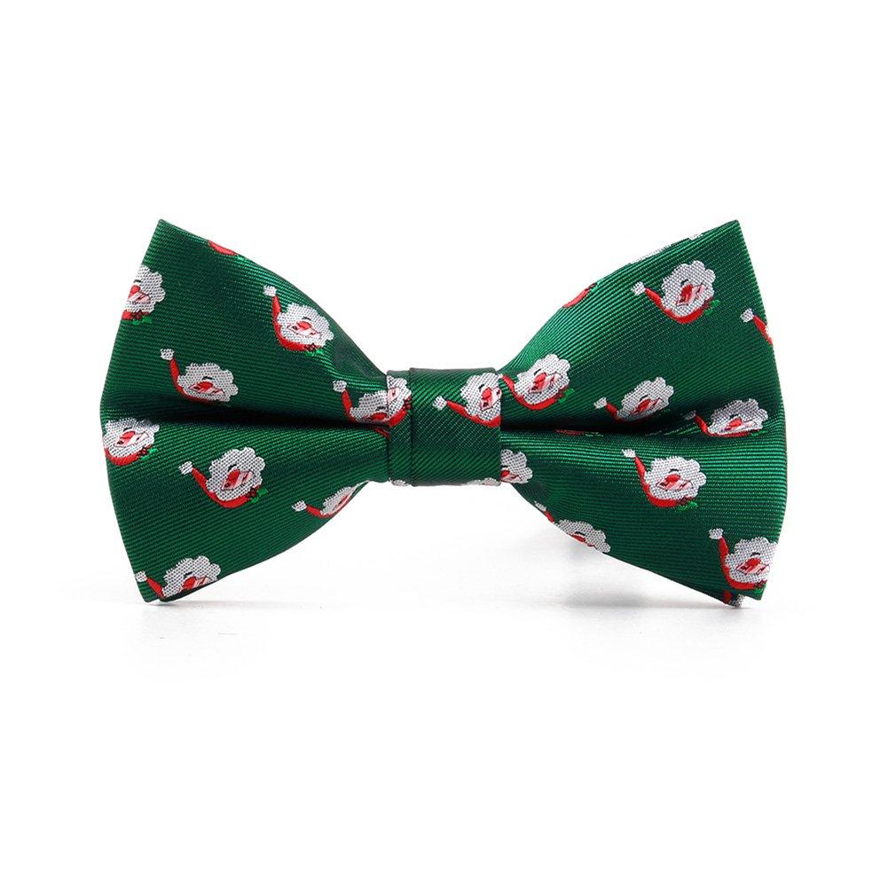 May Lucky Handmade Christmas Xmas Bow Tie Sets Flower Brooch 3+1 PCS