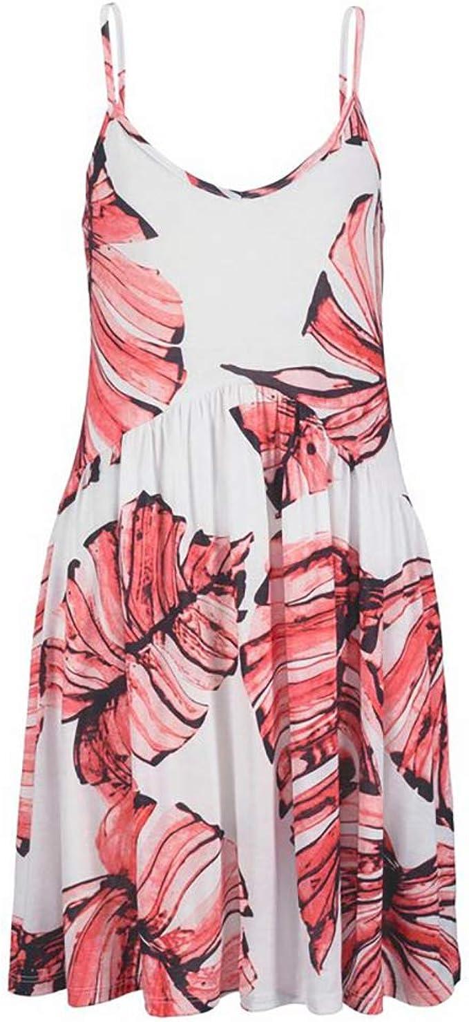 Beach Time Sommerliches Kleid Koralle-weiß: Amazon.de