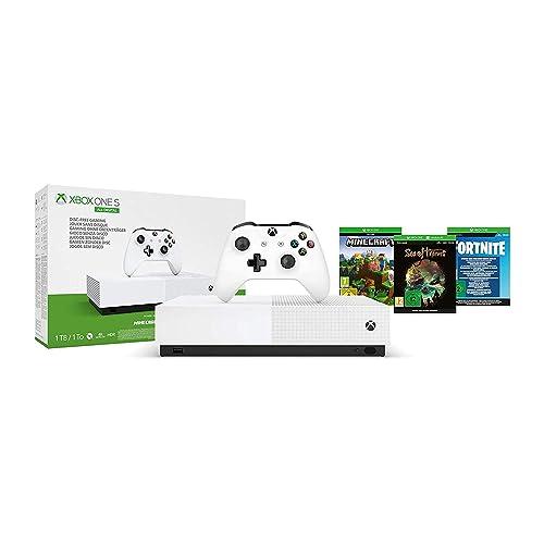 Microsoft Xbox One S 1 TB All Digital Edition Fortnite juego digital Sea of Thieves juego digital Minecraft juego digital