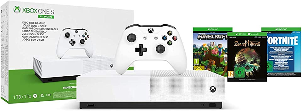 Microsoft - Xbox One S 1 TB All-Digital Edition, Fortnite (juego ...