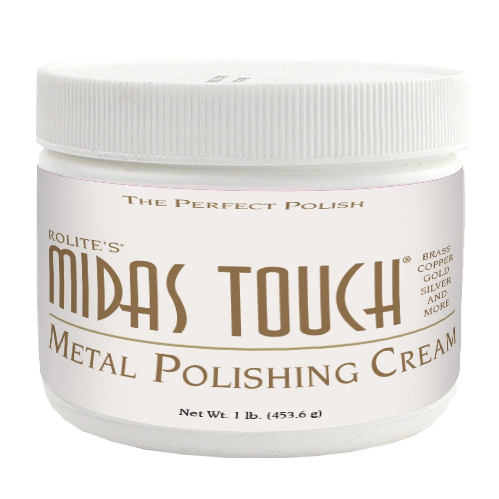 Rolite's Midas Touch Metal Polishing Cream (1lb) with Jewelers Rouge for Gold, Brass, Copper, Bronze, Platinum, Pewter, Bronze, Sterling Silver