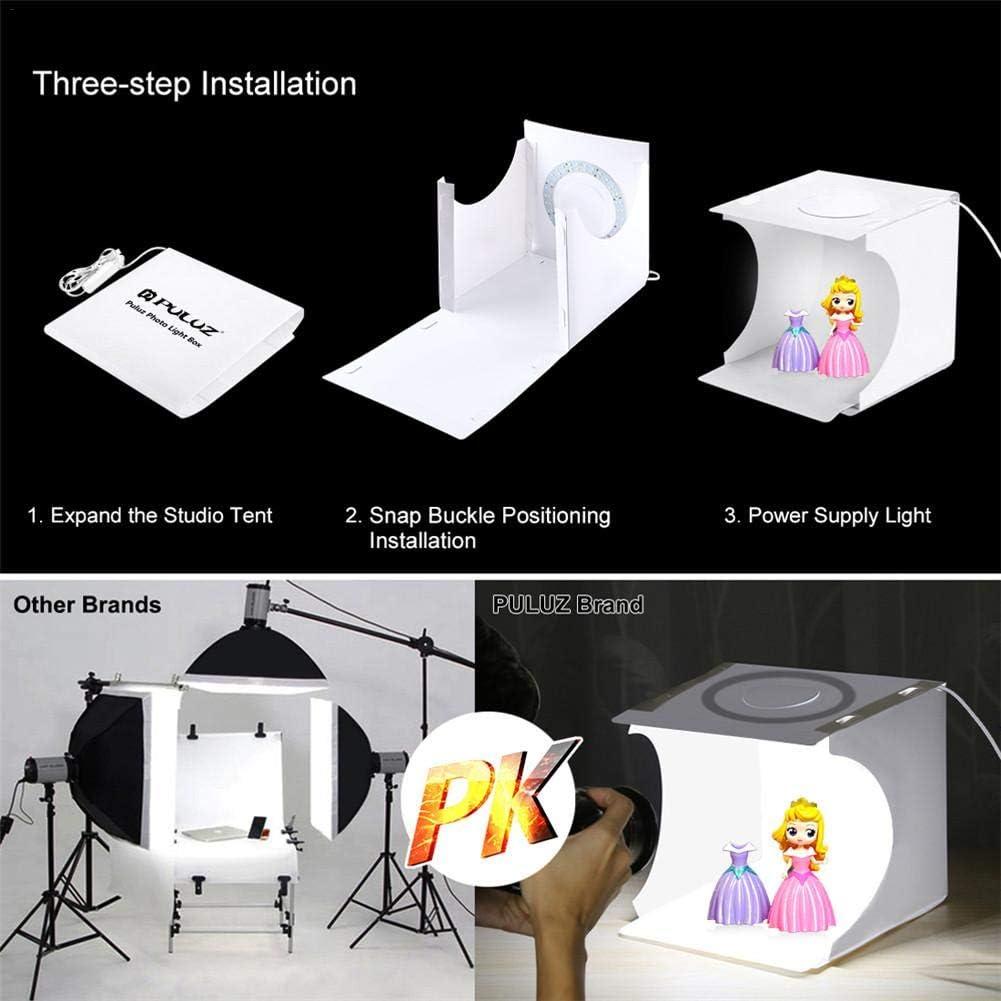 Meetforyou Photographie Professionnelle LED Studio Grand Dimmable Tir Tente Bo/îte 12.87x12.2x12.2 Pouces Photo Vid/éo /Éclairage Continu Cube Tir Tentes Softbox avec 6 Couleurs D/écors