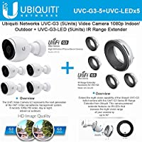 Ubiquiti UVC-G3 5-Pack Video Camera 1080p + UVC-G3-LED 5-Pack IR Range Extender