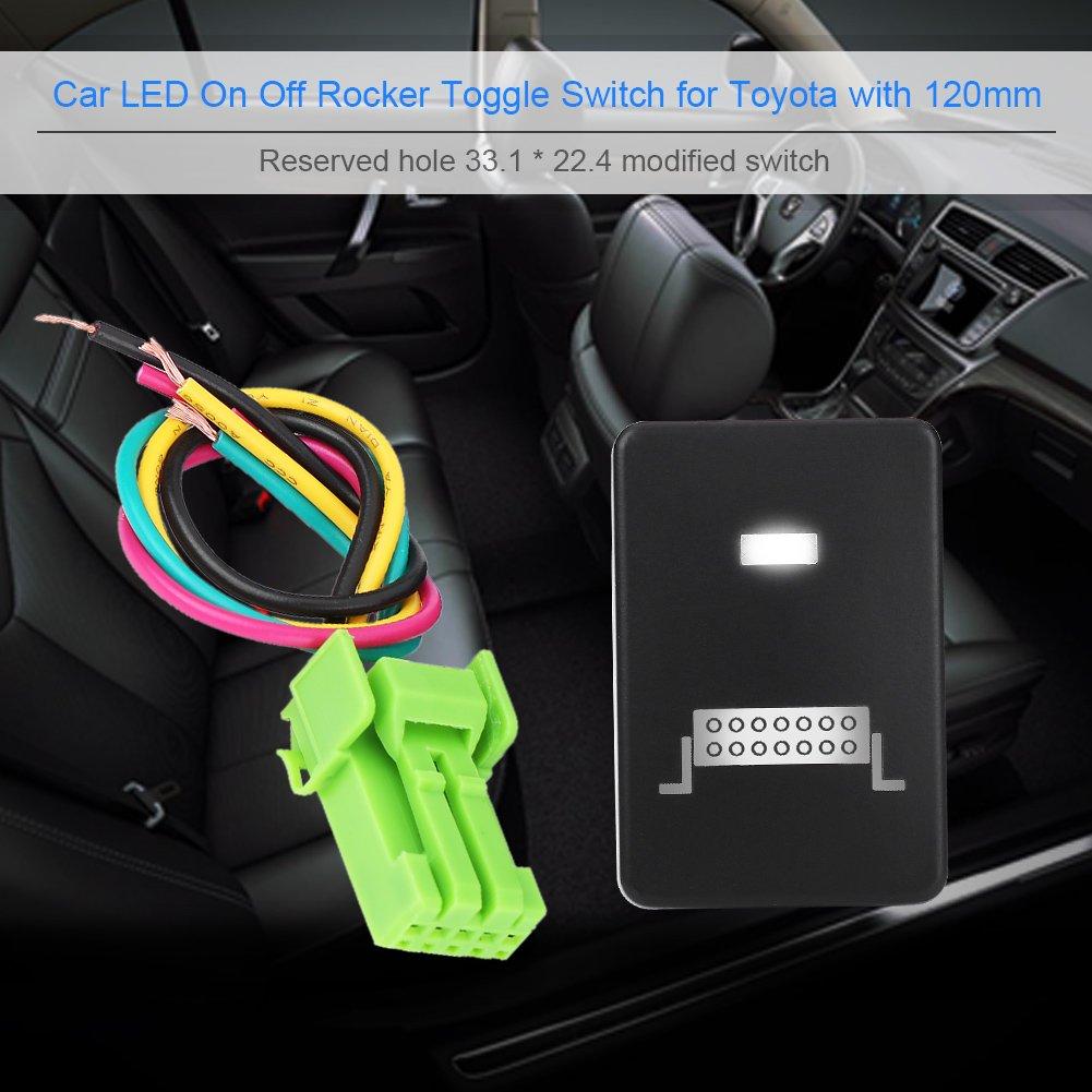 Keenso 12/V-24/V LED auto ON off interruttore a levetta per Toyota Highlander Camery Yaris Prius Carora LED light bar interruttore on-off LED