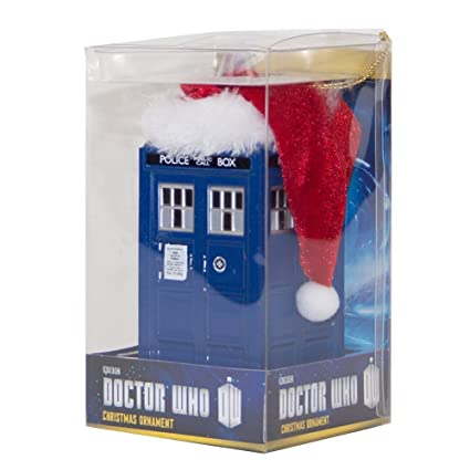 Amazoncom Bbc Doctor Who Led Light Up Christmas Ornament Tardis