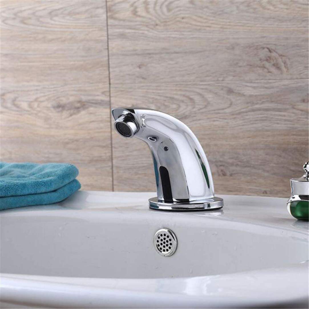 Faucet Washbasin Mixer Sensor Faucet Touchless Electronic Faucet (Hot & Cold) Self-Generating