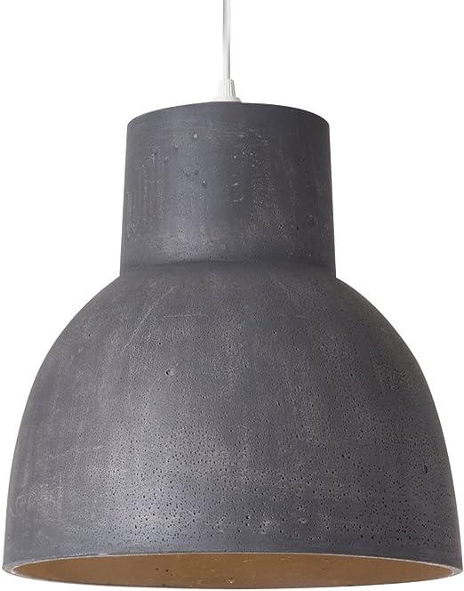 Luminaire Studio block 30 60 W /ø 30 x H 30 cm taupe suspension b/éton