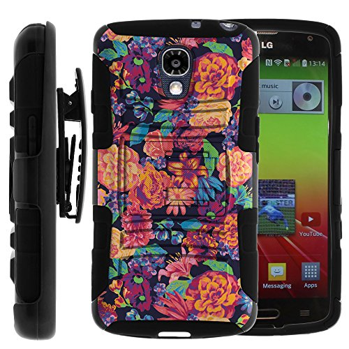 LG Volt Case, LG Volt Holster, Two Layer Hybrid Armor Hard Cover with Built in Kickstand and Unique Graphic Images for LG Volt F90, LS740 (Sprint, Boost Mobile, Virigin Mobile) from MINITURTLE | Includes Screen Protector - Floral Dream