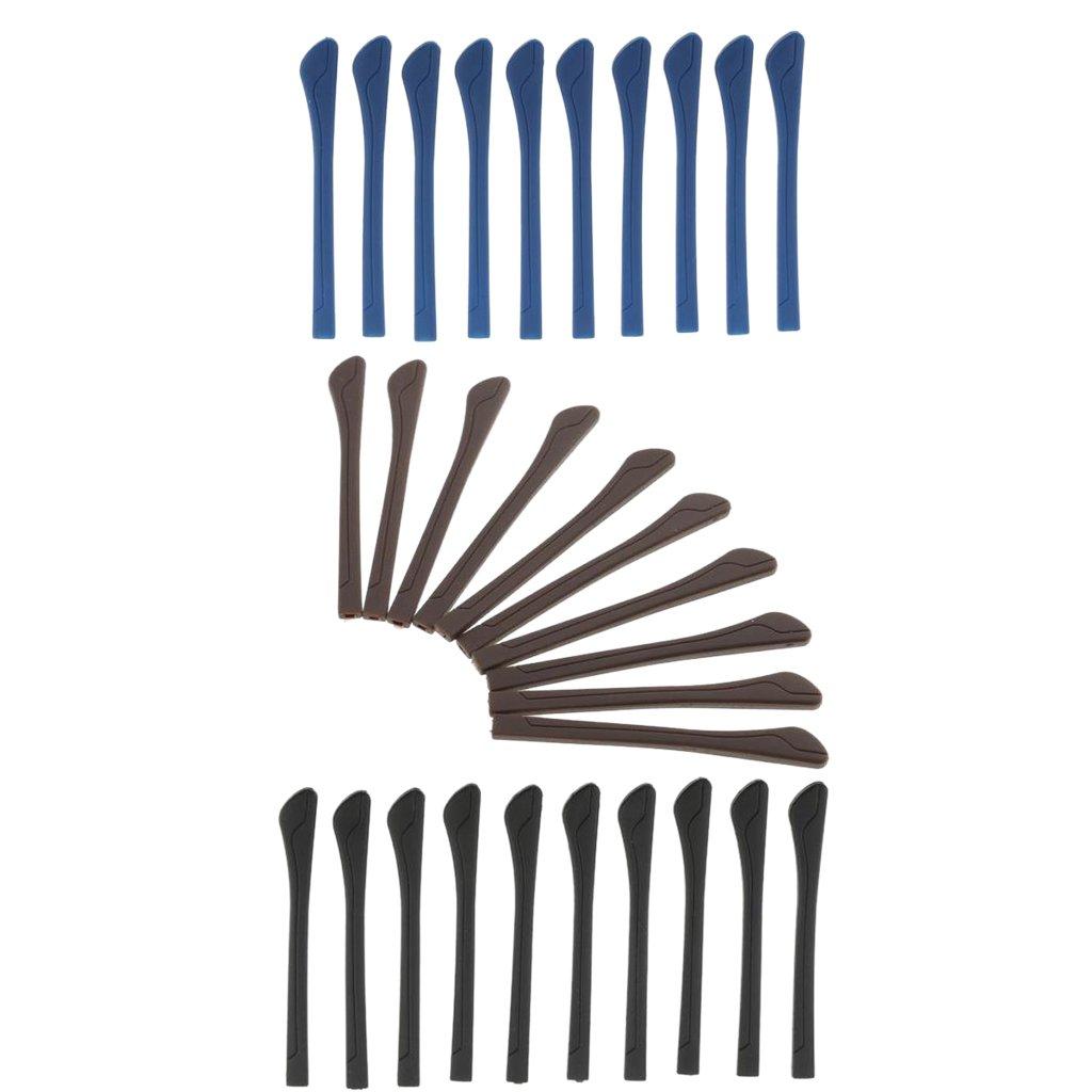 Sharplace 30 Pezzi Occhiali da Vista Temple End Suggerimenti Orecchio Calzino Sostituzione Tubi Kit di Riparazione