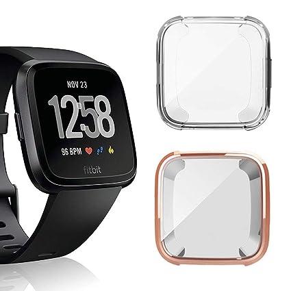Amazon.com: iHYQ Funda para Fitbit Versa, suave protector de ...